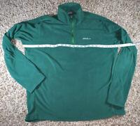 Eddie Bauer Polartec Mens Size TL Green Fleece Half Zip Thin Pullover/Jacket