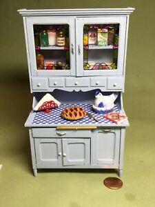 1/12 Scale - Filled Kitchen Hoosier Cabinet - by Delilah Rimmel