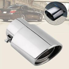 Universal Stainless Steel Chrome Car Tail Rear Straight Exhaust Muffler Pipe HQ