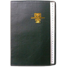 Personal Phone and Address Book - Black Leather Binder - Size  3 x 4""