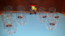 "Riedel Crystal ""O"" Wine Glasses- Lot of 10- EXCELLENT"