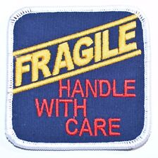 Fragile Handle With Care Iron-on Embroidered Patch for Jacket Vest Backpack Cute