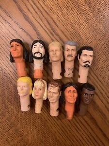 Marx Lot 5-Ten Heads Johnny West Garrett Custer Jed Gibson Geronimo Jane West