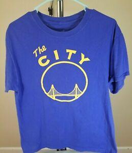 Golden State Warriors NBA Classic Blue The City Medium T-Shirt