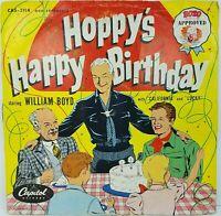 "Hopalong Cassidy Hoppy's Happy Birthday 78rpm 10"" Record Album w Original Sleeve"