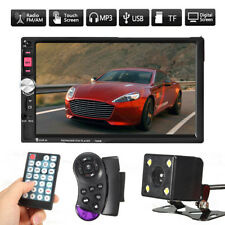 7'' Bluetooth Touch Screen Car Stereo Radio 2 DIN MP5/MP3/USB/AUX Player+ Camera