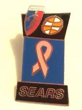Sears Pink Ribbon WNBA Basketball PinBack Pin Breast Cancer Awareness Gift