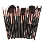 18 PIEZAS Maquillaje Brochas Set Base Sombra De Ojos Delineador polvo Kabuki