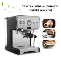 Espresso Cappuccino Coffee Machine Milk Steamer 15 BAR Pump Pressure 1.7L Tank