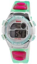 Digital-Armbanduhr Weiß Grün Pink Silber + Box Silikon Damenuhr D-4400001004300