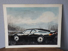 Early Work PAINT of a Car Designer 80's automobile BMW M1 (Aquarelle Watercolor)