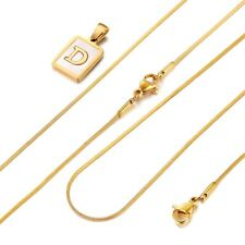 """Womens Shell Gold Filled A-Z Initial Necklace Letter Pendant Choker Chain 18"""""""