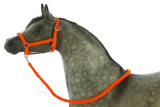 Model Horse Halter and Lead Rope Neon Orange. Fits Traditional Sized Breyer