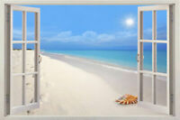 3D Sunshine Beach Window Stickers Vinyl Decal Home Deco View Removable Wall Art