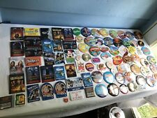 @ 100 Movie Music Artist Collectible Button Pins Light Up Disney Star Wars TONS