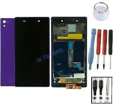 KIT COMPLET VITRE TACTILE ÉCRAN LCD CHASSIS ARRIÈRE SONY XPERIA Z1 L39H VIOLET