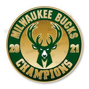 Milwaukee Bucks Champions 2021 Round  Decal