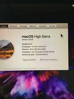 Macbook Pro 13,  i7  2,7Ghz    6Go  Pas de son