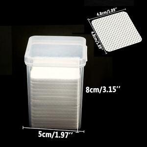 200 PCS 100% Lint Free Wipes Pads Eyelash Extension Nail Art Tool Remover + Box
