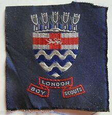Insigne tissu Scout LONDON BOY SCOUTS Scoutisme ORIGINAL patch