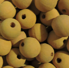 20mm Macrame Large 5mm Hole Round Rustic Rose Wood Beads You Design Them