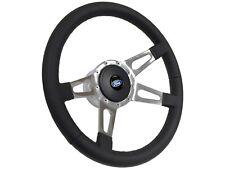 1968 - 1991 Ford S9 Sport Leather Steering Wheel Kit | Slotted 4-Spoke