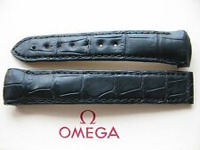 Ex-Display Omega Planet Ocean 18mm Black Crocodile Deployment Strap 98000299