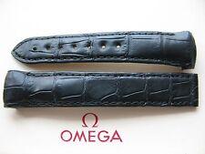 Precedentemente esposti in vetrina Omega Planet Ocean 18 mm nero coccodrillo Cinghia di DISTRIBUZIONE 98000299