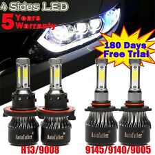 Fit For 2004-2014 Ford F-150 2080W CREE H13 9008 LED Headlight Hi//Low Beam Bulbs