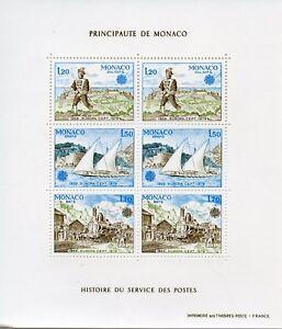 BLOC TIMBRE DE MONACO NEUF N° 17 ** EUROPA 1979 HISTOIRE DES POSTES COTE 30 €