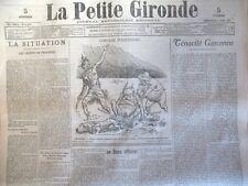 WW1 GUERRE TENACITE GASCONNE DESSIN LEANDRE JOURNAL LA PETITE GIRONDE 1915