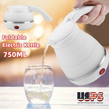 750ML Portable Travel Water Boiler Electric Kettle Silicone Foldable Universal