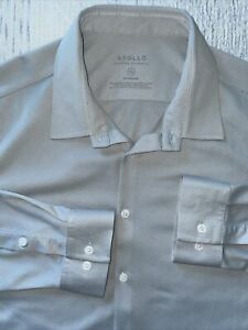Ministry of Supply XL GRAY Men's Apollo Performance LONG SLEEVES Dress Shirt