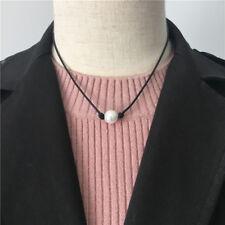 Women Jewelry Necklace Freshwater Pearl Genuine Leather Cord Choker Handmade New