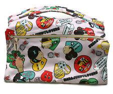 "Harajuku Lovers Gwen Stefani Pink Red Stripe Handbag Tote Bag Purse 13"""
