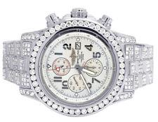 Personalizado Para Hombre Breitling Super Avenger A13370 XL 48 mm S. Acero Reloj De Diamante 23 CT