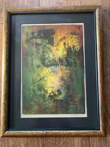 RARE Hoi Lebadang Limited Edition Lithograph Signed Framed Horses