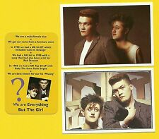 Everything But The Girl Fab Card Collection Tracey Thorn Ben Watt Musical Duo