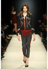 Isabel Marant (Fr36 S/XS) Quilted Embroidered Studded Boxy F'2012 Huston Jacket