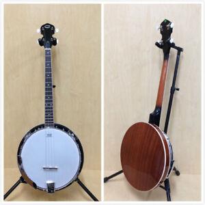 Caraya 4-String Tenor Banjo w/Mahogany Resonator+Free Ging Bag. BJ-004