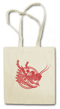 CHINESE TATTOO DRAGON HEAD STOFFTASCHE Asia Drache Chinesischer China