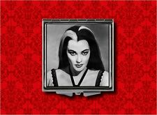 LILY MUNSTER ROCKABILLY PSYCHOBILLY GOTH MAKEUP POCKET COMPACT MIRROR