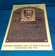 Stan Musial autographed baseball HOF plaque postcard NM-MT *PPCARDS*