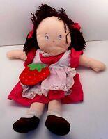 "Vintage 1980's Strawberry Shortcake Dolls 26"" Tall WATERBOTTLE / P.J. CASE (ST1)"