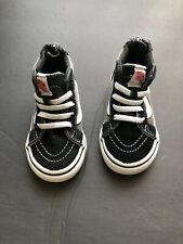 Toddler Size 5 Vans Shoes Black And Gray