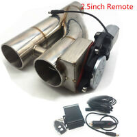 """Patented 2.5"""" 63mm Electric Exhaust Downpipe Cutout E-Cut Out Dual-Valve Remote"""