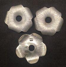 Thai Karen Hill Tribe Silver Flower Pendant 6cm