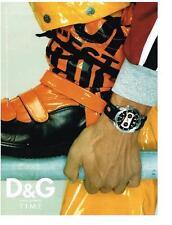 PUBLICITE ADVERTISING  2002   DOLCE & GABBANA  collection montres