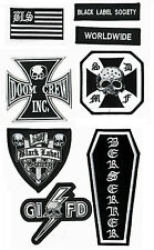 HEAVY METAL BAND BLACK LABEL SOCIETY FAN CLUB: BLS 8-PATCH SET for VEST CHEST