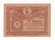 PORTUGAL NOTGELD EMERGENCY MONEY CEZIMBRA SESIMBRA 2 CENTAVOS 1921